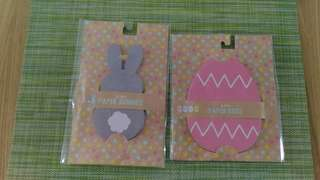 Bunnies and eggs paper cut out pack
