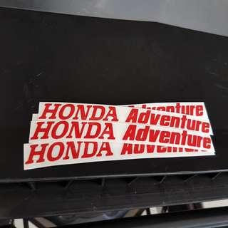 Honda Adventure Stickers
