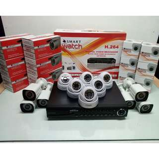 CCTV 12 HD Cameras for Outdoor and Indoor Package capable of Night Vision Display