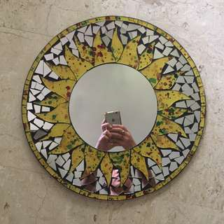 Bali Yellow Bohemian Mirror