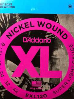 Daddario正貨電吉他0942線