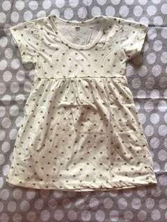 Gold Heart Dress Size Medium