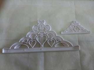 Princess tiara crown fondant cutter