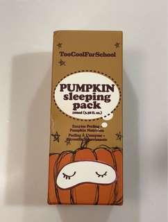 Too cool for school pumpkin sleeping mask