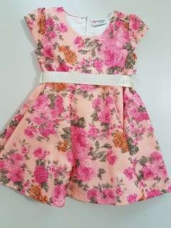 Pink Flare Dress - Party Dress
