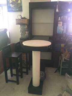 Bar table with 2 chairs