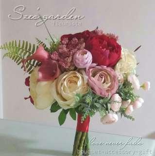 新娘絲花花球wedding bouquet