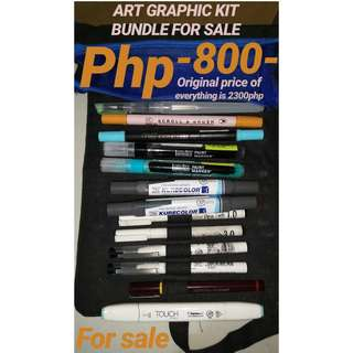 REPRICED - Art graphic kit bundle For Sale! (repriced)