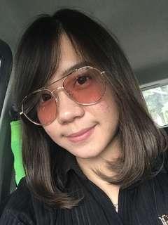 Cat eye sunglasses / kacamata pink