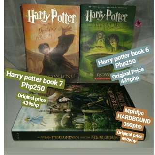 !!!~Books for sale~!!! Harry Potter and the half-blood prince, Harry Potter and the Deathly Hallows, Miss Peregrines Home For Peculiar Children, and the Maze Runner Series SET