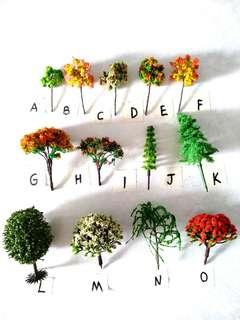 Wholesales height 6cm Miniature Terrarium Trains Models Lego Trees Terrian 50 cents each