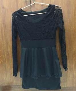Black brokat dress