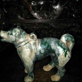 汉绿釉小犬86218574