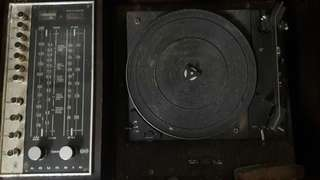 Vintage DUAL 1210 turntable with Grundig Stereo - FOR RESTORATION