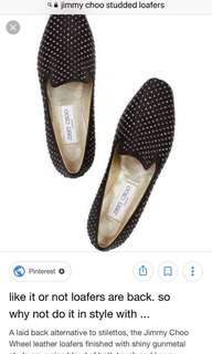 Jimmy choo studded loafers 37 chanel