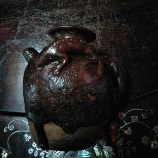 宋代印尼万隆省制作酱釉小茶壶86218574