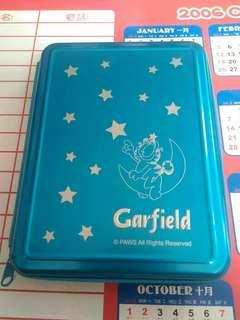 2004年 加菲貓系列 絕版 鋁金屬面 記事簿部 ORGANIZER