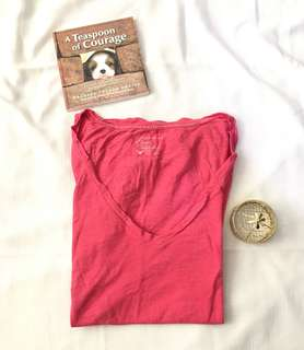 Charity Sale! Authentic American Eagle Outfitter's Basic Everyday Tee Cotton V-neck Women's T-Shirt Size Medium