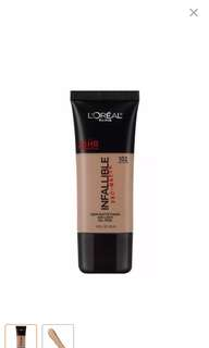 Loreal infallible matte foundation - 102 shell beige