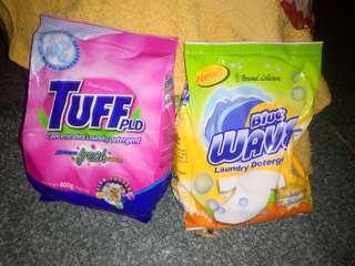 Alert toothpaste, tuff detergent ,blue wave, white dove oil,