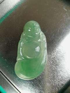 冰种淺緑色布袋佛