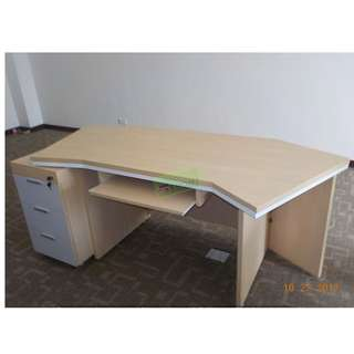 CUSTOMIZE EXECUTIVE TABLE WITH CABINET--KHOMI