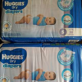 Repriced! (From 250) Huggies small taped 38s