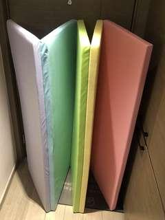 韓國五摺糖果色 playmat 軟墊