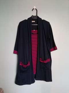 Terno cardigan and sleeveless