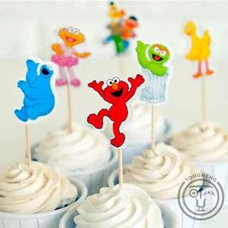 Cake Topper - Sesame Street Theme (24 pcs)
