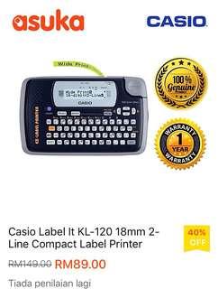Label Printing - Casio
