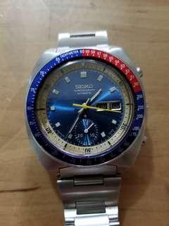 精工藍面6139-6002机械計時自動錶