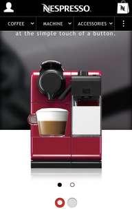 Bnib Nespresso Lattissima Touch Red Glam