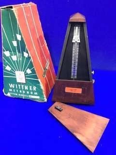 Antique/ vintage Wittner wood key wound metronome