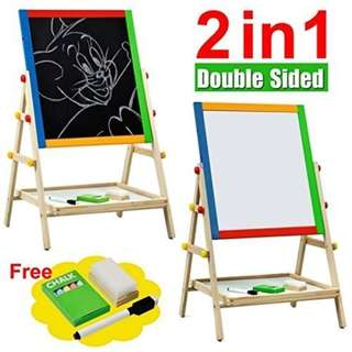 Double-sided White/Black Board Easel Brand New