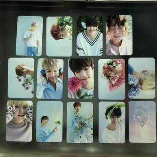 SEVENTEEN TEEN,AGE FLOWER AND ROCK VER UNOFFICIAL PHOTOCARDS