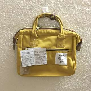 🔥MOVING OUT SALES🔥 AT-H0851 [ YELLOW ] Authentic Anello MINi PolyesterCanvas Boston
