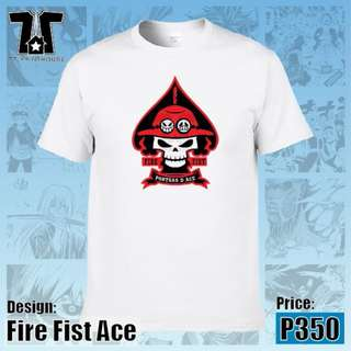 One Piece Anime - Fire Fist Ace White T-Shirt