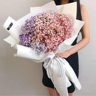 Giant Baby's Breath Bouquet | Proposal Bouquet