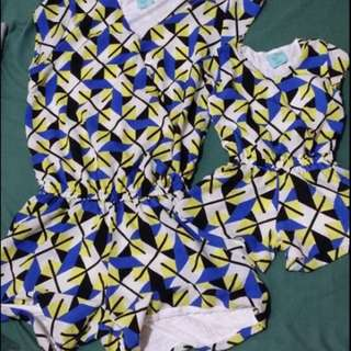 Twilo Rompers terno, twinning for Mommy and Baby