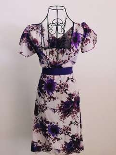 Dress with splashed prints