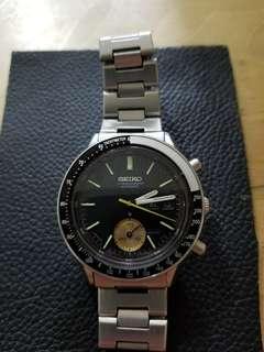 精工6139-8040黑面自動計時机械錶