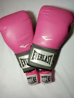 Hot Pink Boxing Gloves and Wrap Set (Level 1)