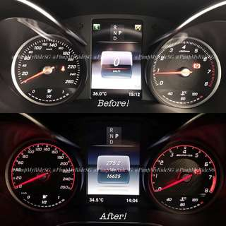 Mercedes-Benz AMG Cluster Sticker! (Only For GLC & C Class) Price Inclusive Of Installation!