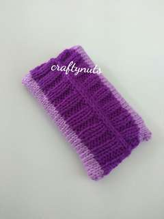 Knitted Purple Tissue Pouch