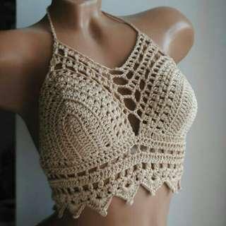 Shaine Halter Corset Crochet