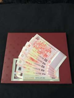 SG50 Commemorative Notes With Folder