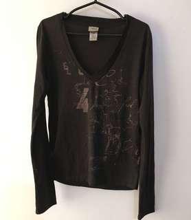Charity Sale! Authentic Diesel Women's Long Sleeve Shirt Top Size Medium