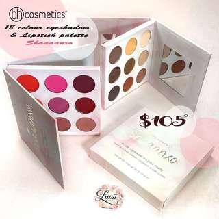 [全店現貨]💗高CP值.Bh Cosmetic Shaaanxo Palette - 18 Colour eyeshadow & Lipstick Palette 🇺🇸