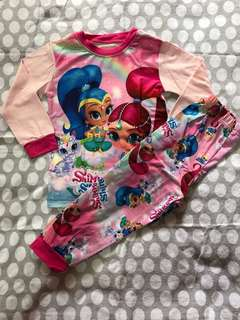 Shimmer & Shine Pyjamas Size 2T